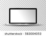 realistic modern laptop... | Shutterstock .eps vector #583004053