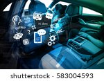 smart car and internet of... | Shutterstock . vector #583004593