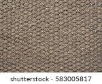 coir braided rug texture | Shutterstock . vector #583005817
