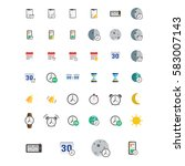 icons set. vector illustration...