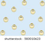 monkey pattern and background... | Shutterstock .eps vector #583010623