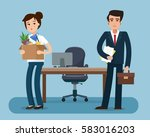dismissed office worker with... | Shutterstock .eps vector #583016203