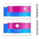 template abstract business card ...   Shutterstock .eps vector #583028713