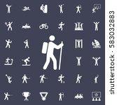 rock climber icon illustration. ... | Shutterstock .eps vector #583032883