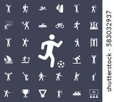 football player icon. sport... | Shutterstock .eps vector #583032937