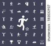 football player icon. sport... | Shutterstock .eps vector #583032937
