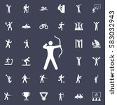 archer icon. sport icons... | Shutterstock .eps vector #583032943