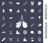boxing design icon. sport set... | Shutterstock .eps vector #583042213