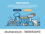 web design concept for web site.... | Shutterstock .eps vector #583042693