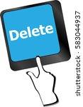 computer keyboard   key delete  ... | Shutterstock . vector #583044937
