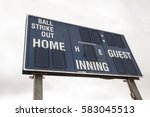 baseball scoreboard | Shutterstock . vector #583045513