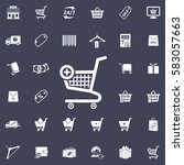 vector shopping cart icon | Shutterstock .eps vector #583057663