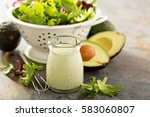 Avocado Ranch Dressing In Smal...