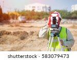 land survey and asian civil... | Shutterstock . vector #583079473