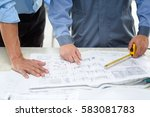 asian civil engineer and asian... | Shutterstock . vector #583081783