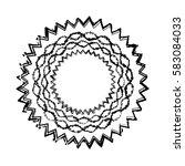 distress edge overlay texture.... | Shutterstock .eps vector #583084033