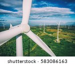 wind turbine from aerial view   ... | Shutterstock . vector #583086163