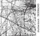 distress overlay web grid... | Shutterstock .eps vector #583086343