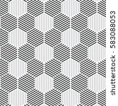 black and white pattern... | Shutterstock .eps vector #583088053