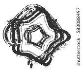 distressed bold postal stamp... | Shutterstock .eps vector #583088497