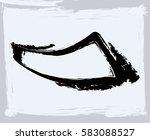 black paint  ink brush strokes  ... | Shutterstock .eps vector #583088527