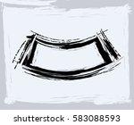 black paint  ink brush strokes  ... | Shutterstock .eps vector #583088593