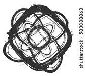 distressed bold postal stamp... | Shutterstock .eps vector #583088863