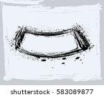 black paint  ink brush strokes  ... | Shutterstock .eps vector #583089877