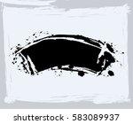 black paint  ink brush strokes  ... | Shutterstock .eps vector #583089937