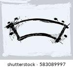 black paint  ink brush strokes  ... | Shutterstock .eps vector #583089997