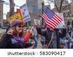 boston  ma usa   february 19 ... | Shutterstock . vector #583090417