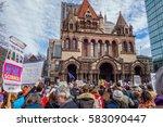 boston  ma usa   february 19 ... | Shutterstock . vector #583090447