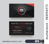 business card design layout... | Shutterstock .eps vector #583096573