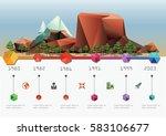 low polygon landscape.... | Shutterstock .eps vector #583106677