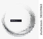 minimal halftone circular frame ... | Shutterstock .eps vector #583109863
