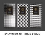 vector set packaging templates...   Shutterstock .eps vector #583114027