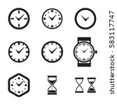clock icon isolated. time logo  ... | Shutterstock .eps vector #583117747