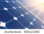 china shanghai  solar power... | Shutterstock . vector #583121503