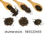 set of hot black pepper seeds... | Shutterstock . vector #583122433