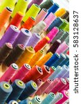 colorful thread spools used in... | Shutterstock . vector #583128637