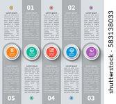 vector abstract 3d paper... | Shutterstock .eps vector #583138033