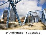 blue bridge in grand rapids ...   Shutterstock . vector #58315081