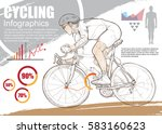 cycling sport infographic... | Shutterstock .eps vector #583160623