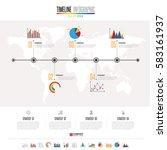 timeline infographics design... | Shutterstock .eps vector #583161937