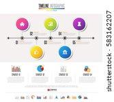 timeline infographics design... | Shutterstock .eps vector #583162207
