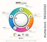 timeline infographics design... | Shutterstock .eps vector #583163263