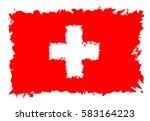switzerland flag grunge style.... | Shutterstock .eps vector #583164223