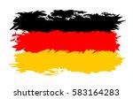 german flag grunge style.... | Shutterstock .eps vector #583164283