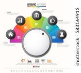 timeline infographics design...   Shutterstock .eps vector #583164913