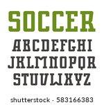 slab serif font in sport style | Shutterstock .eps vector #583166383